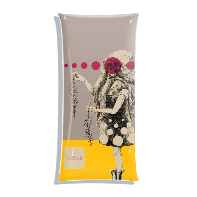 スーパーファンタジー絵描き 松野和貴の化けの皮ータコー Clear Multipurpose Case