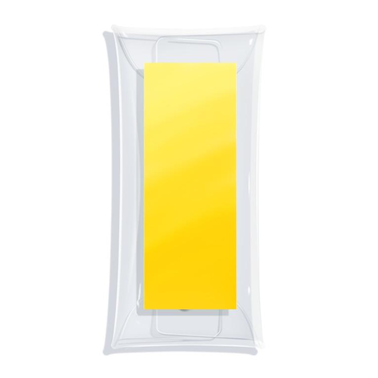 SiMesava's ShopのCustard Mustard Clear Multipurpose Case