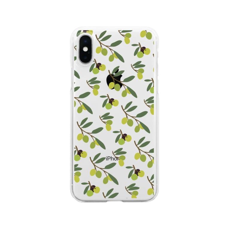 さちこのオリーブ Clear smartphone cases