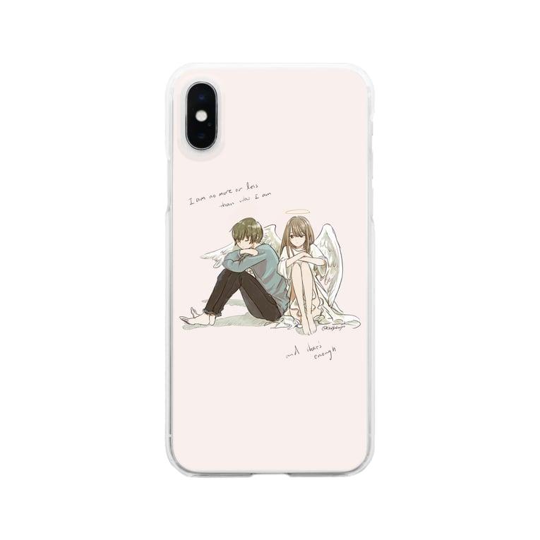 riku_hydrangeaの私は私以上でも以下でもない、それで十分 Clear smartphone cases