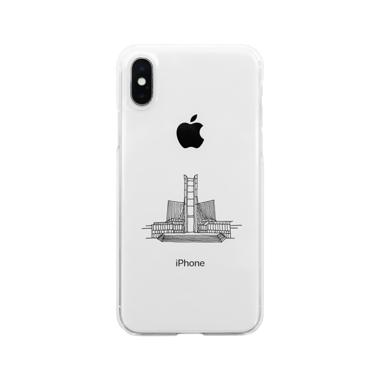 simple thingsの建築ペン画 東京カテドラル Clear smartphone cases
