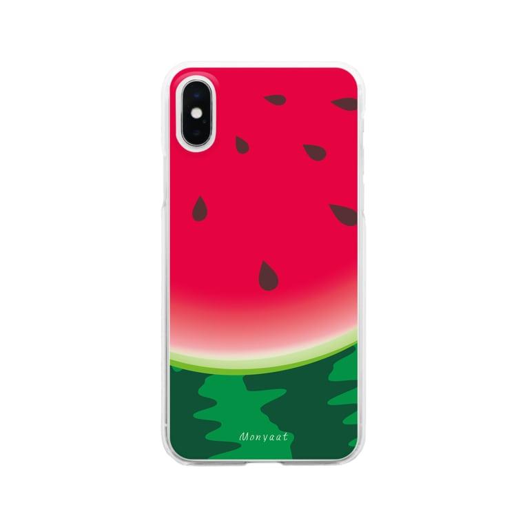 *suzuriDeMONYAAT*のスイカ柄4*クリアケース Clear smartphone cases
