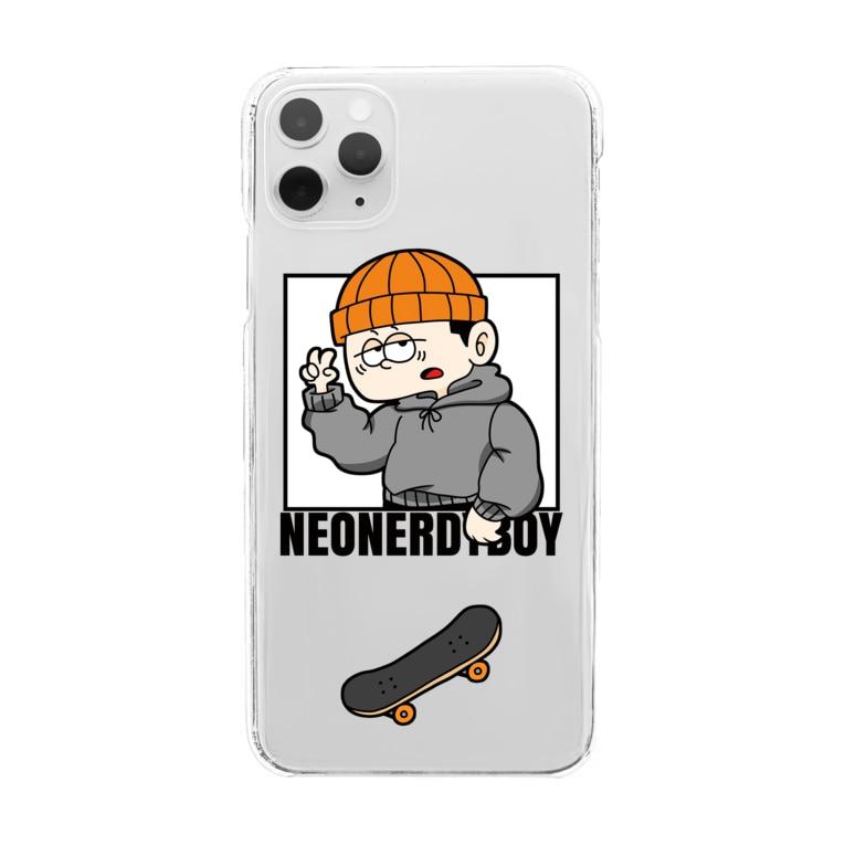 Design by neonerdyboyのSKATER BOY CLEAR iPhone Case Clear Smartphone Case