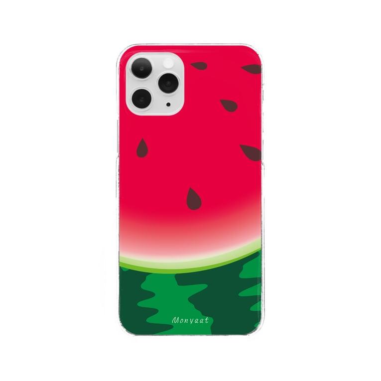 *suzuriDeMONYAAT*のスイカ柄5*クリアケース Clear smartphone cases