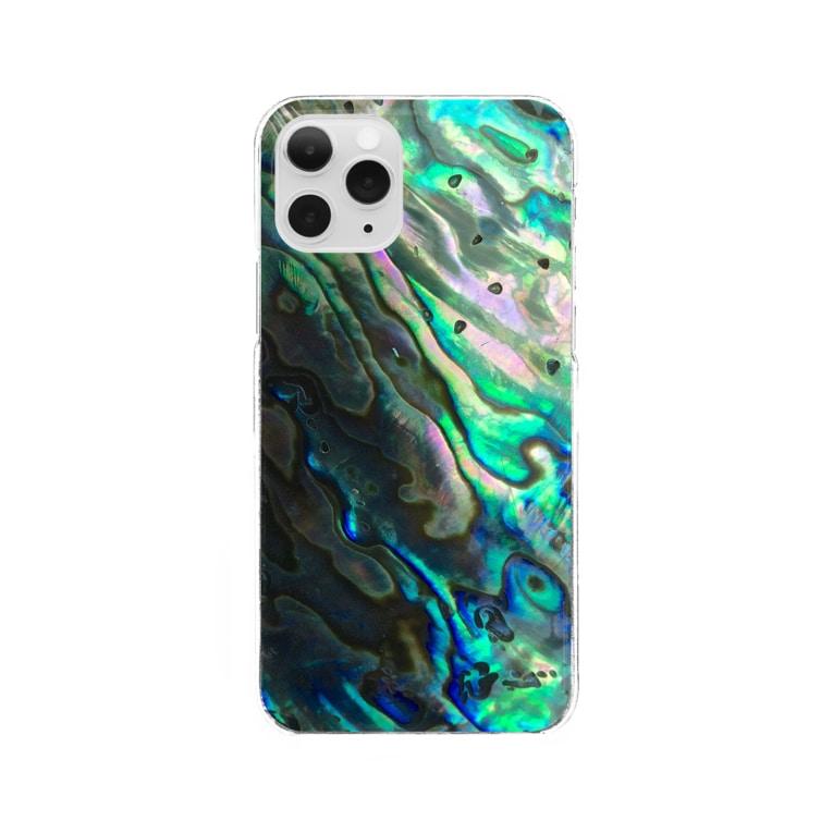 Tabbiesの貝パール-グリーン Clear Smartphone Case