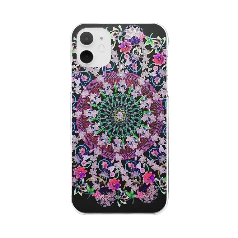 MilkyWay☆彡の曼荼羅mandalaクリアスマホケース Clear smartphone cases