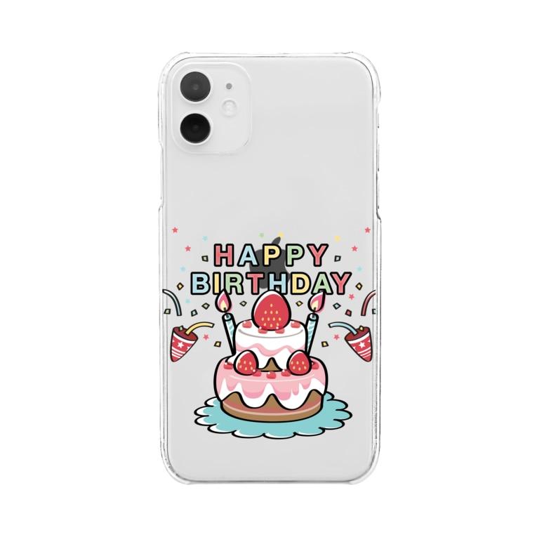 *suzuriDeMonyaa.tag*のHAPPY BRITHDAY_4 Clear smartphone cases