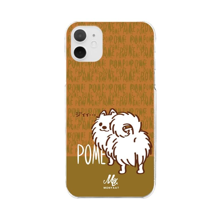 *suzuriDeMonyaa.tag*のCT83いつも見ているポメラニアンC Clear smartphone cases