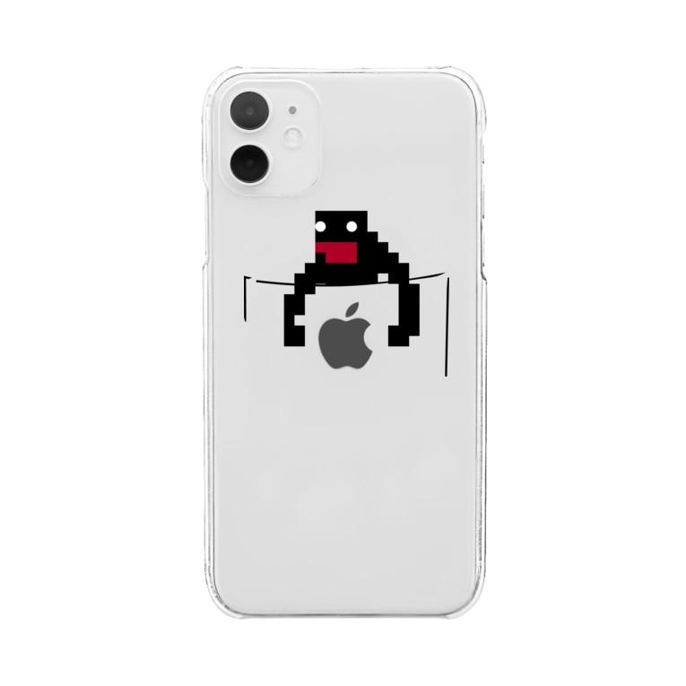 てなが.jpのポケットてながくん-01 Clear smartphone cases