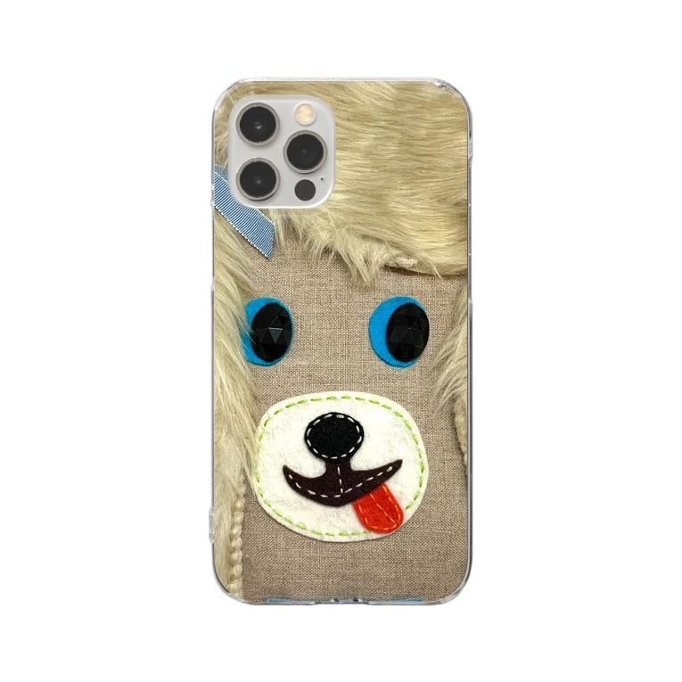 大須賀理恵の犬バッグ君 Clear smartphone cases