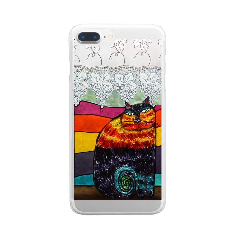 "poche de`tenのMlle""KINTA Clear smartphone cases"
