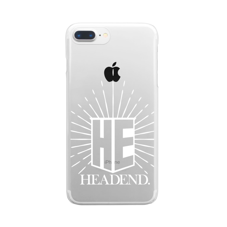 HEAD ENDのHE rogo Clear smartphone cases