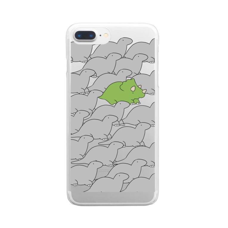 さうるす本舗のさうるすとぷすさうるす Clear smartphone cases