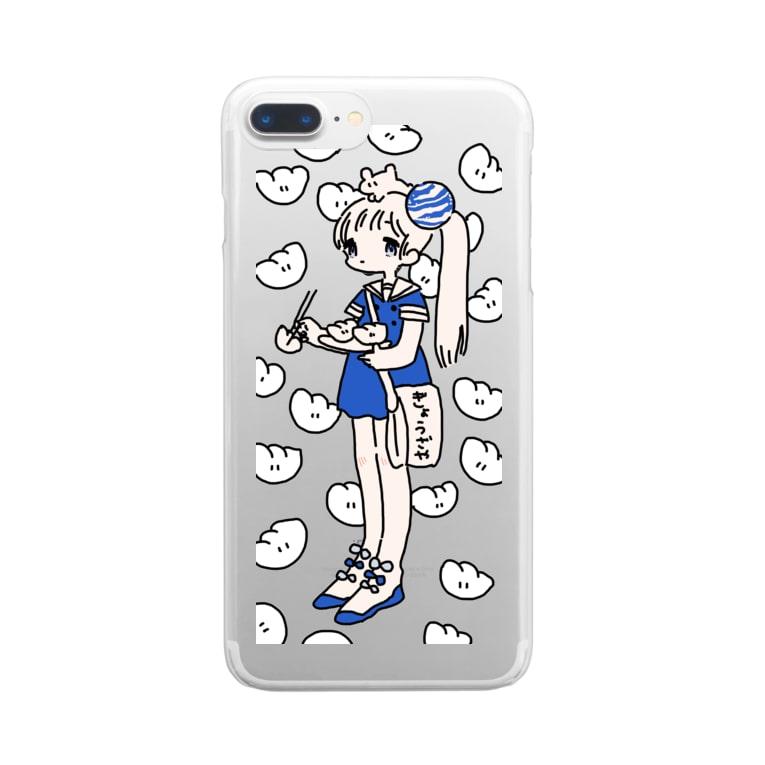 meikomaromenのぎょうざやさん Clear smartphone cases