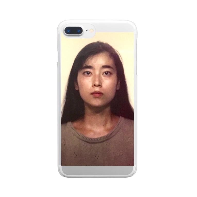 ユイのあべゆい母2(ちょっと明るくしてみた) Clear smartphone cases
