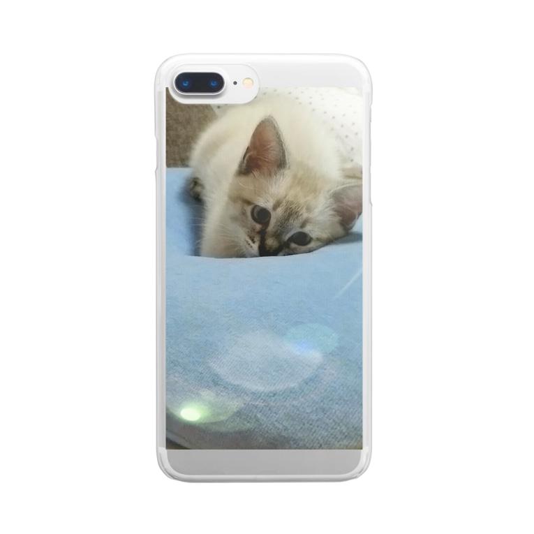 mokomoko-1のdive Clear smartphone cases
