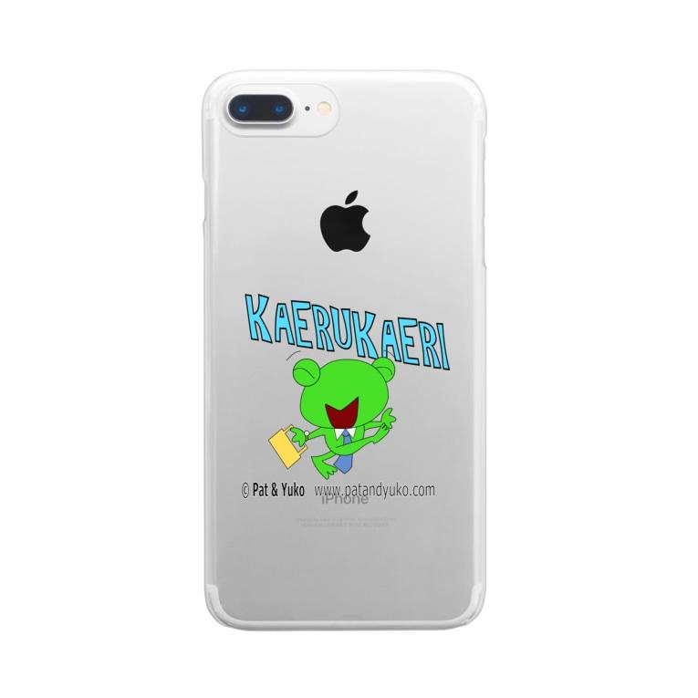 Patmaru Worksのフロッグバートの「かえる帰り」 Clear smartphone cases