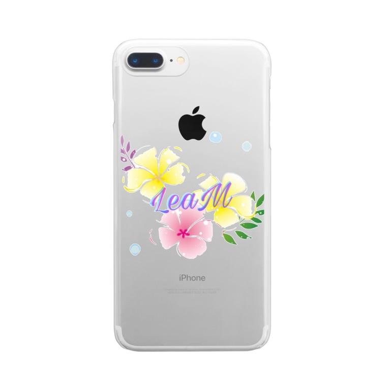 Leam 綺麗なハイビスカス柄 Leamのクリアスマホケース Iphoneケース 通販 Suzuri スズリ