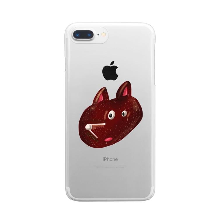 Tania NobukovskiのHEY BEAR FACE Clear smartphone cases
