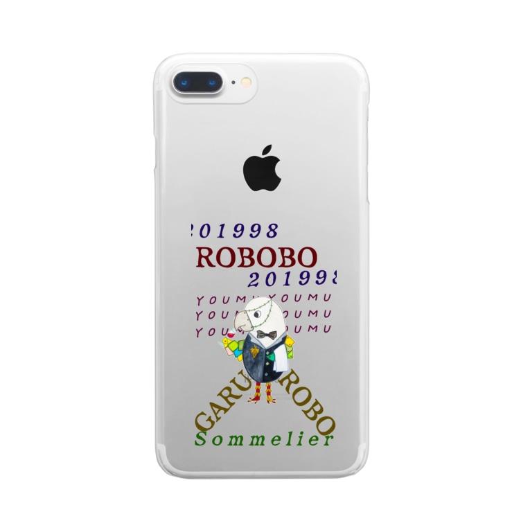 ねこぜや のROBOBO🤖「ガルロボ」 Clear smartphone cases