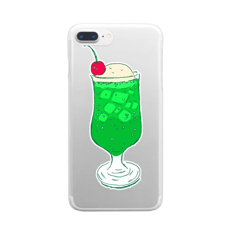 NIKORASU GOのメロンクリームソーダ@文字なし Clear smartphone cases