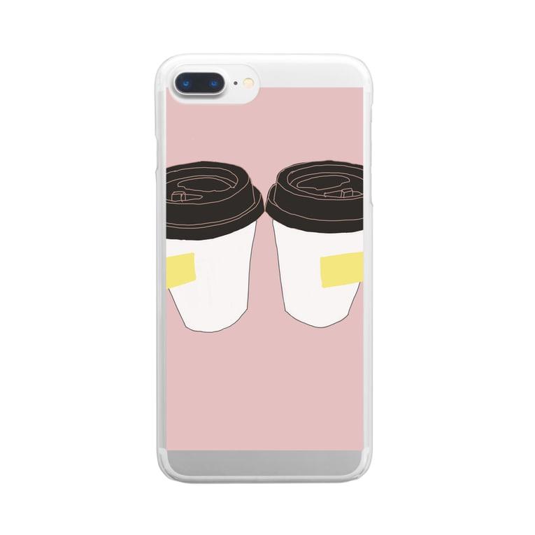 U____ri0711のふせんと、カップ 。 Clear smartphone cases