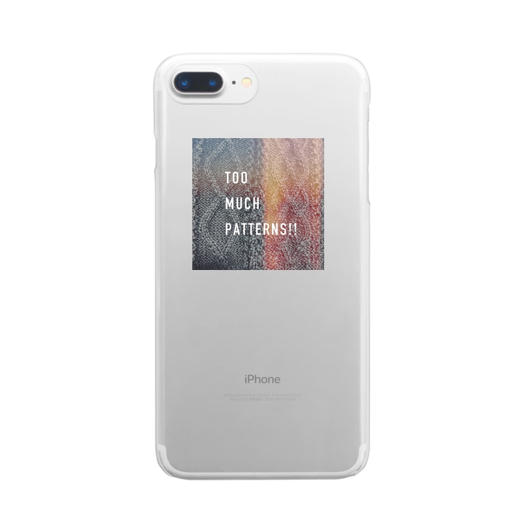 supermilkloungeのtoo much patterns Clear smartphone cases