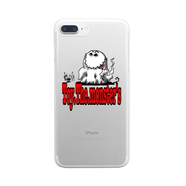 toy.the.monsters!のToy.The.monster's ゴーシュ&スパイン Clear smartphone cases
