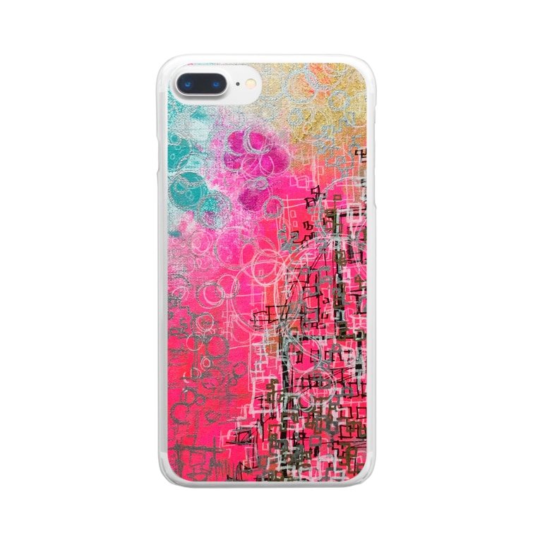 chie watanabeの地球を眺める Clear smartphone cases