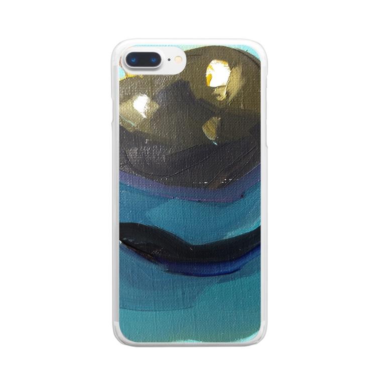 Yuri_Paintingのブラックプラム Clear smartphone cases
