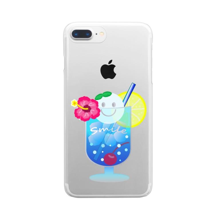 Yokokkoの店のSmile in Cream Soda🍹 Clear smartphone cases