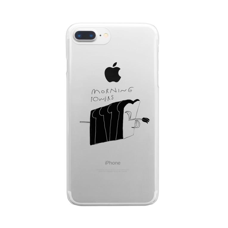 明季 aki_ishibashiのモーニングパワー Clear smartphone cases