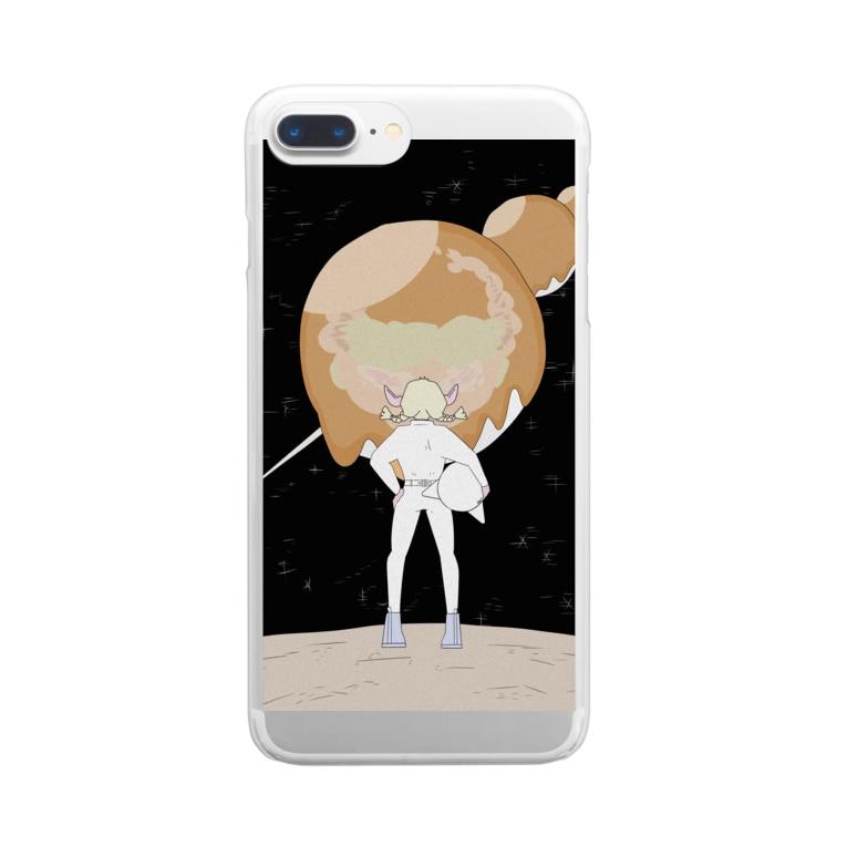 ホテルド惑星の団子 Clear smartphone cases