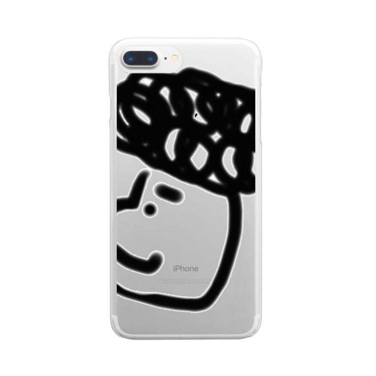 Jax shopのモジャくん Clear smartphone cases