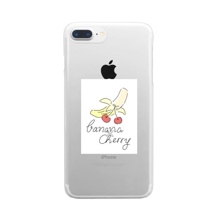 375__illustの🍌×🍒 Clear smartphone cases