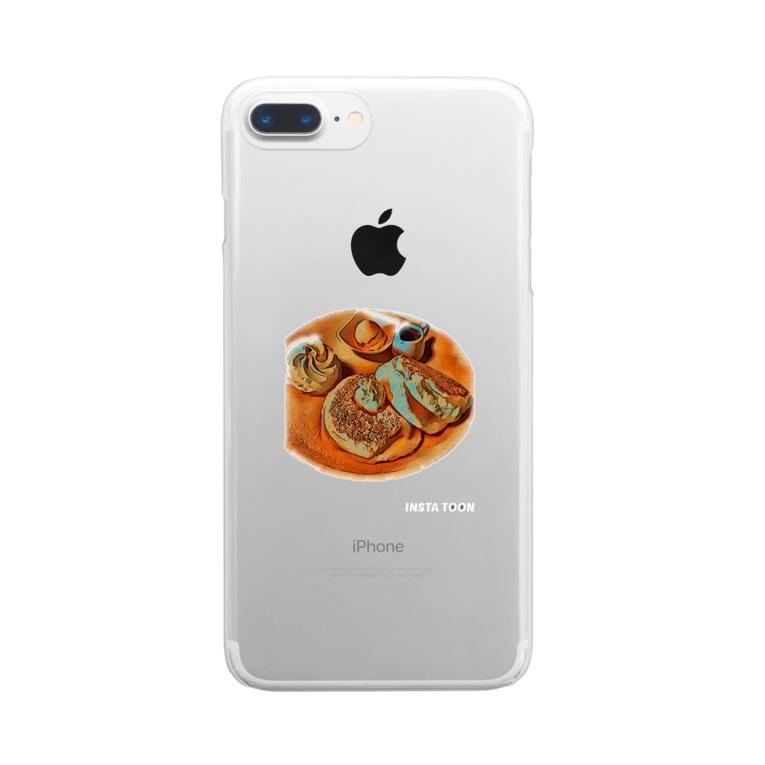 海老太郎のパンケーキ大好き Clear smartphone cases