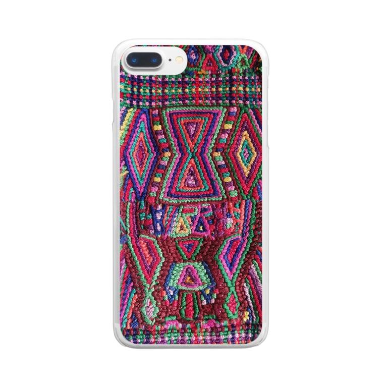 RIRI_designのグアテマラ民族衣装柄3 Clear smartphone cases