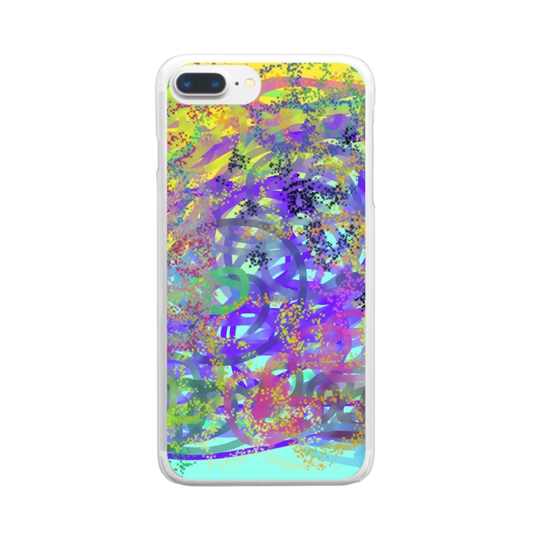 Cyobi の店のcolorful2 Clear smartphone cases