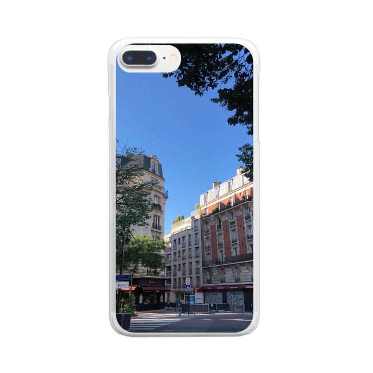 panda2428のフランス Clear smartphone cases