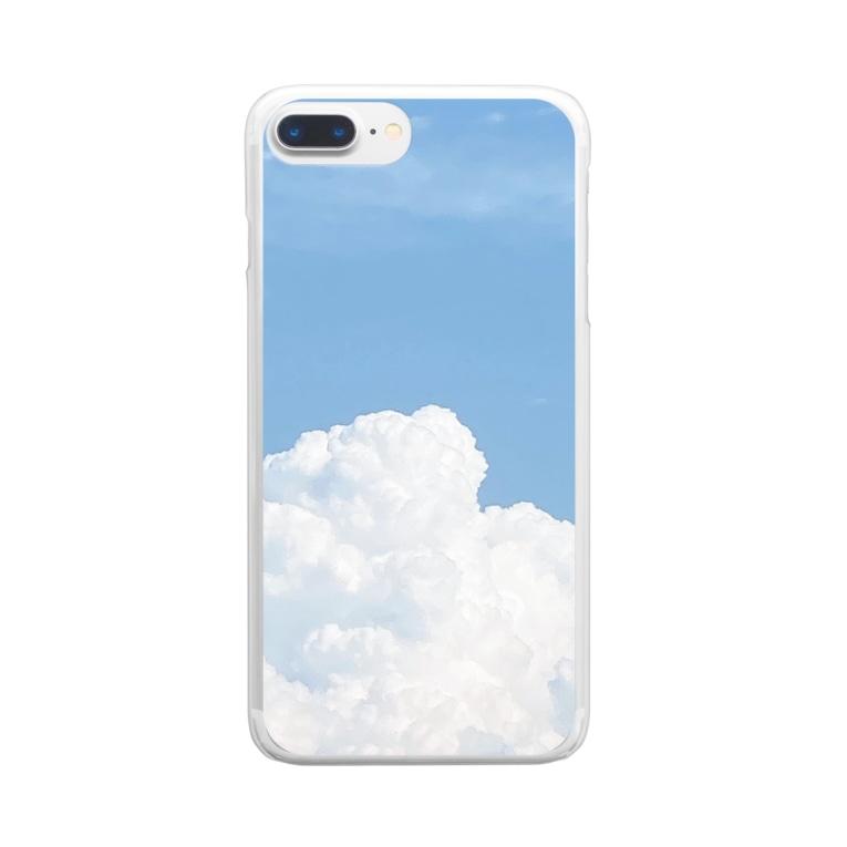 inomalのもくもくも Clear smartphone cases