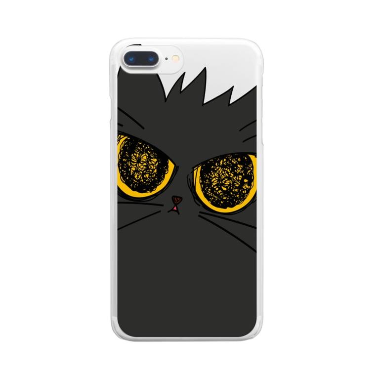気まぐれ猫系店の鬼気迫る時雨 Clear smartphone cases