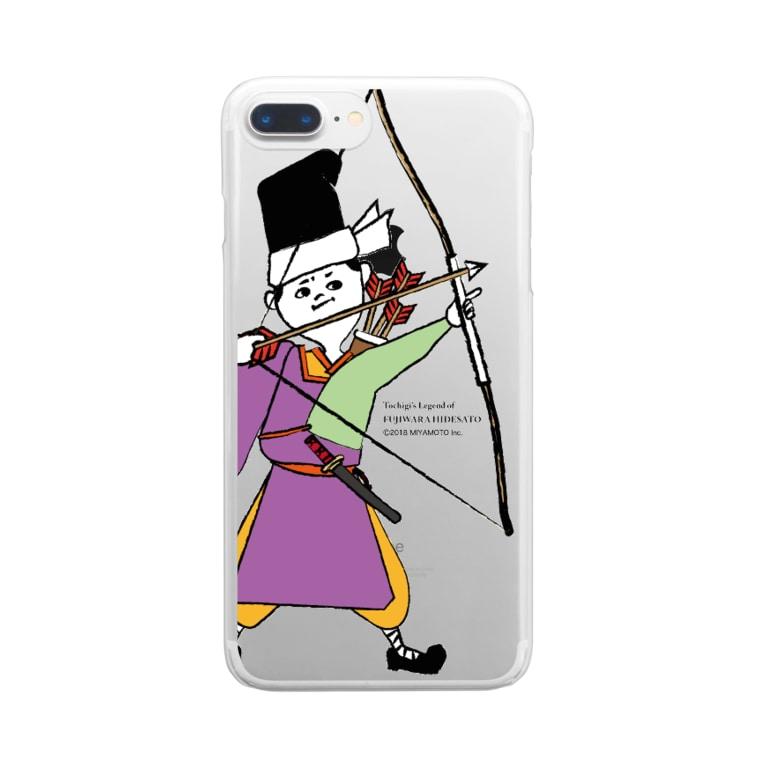 Hidesato&Doumeki Shopの秀郷 /弓 (ハード/クリア) Clear smartphone cases