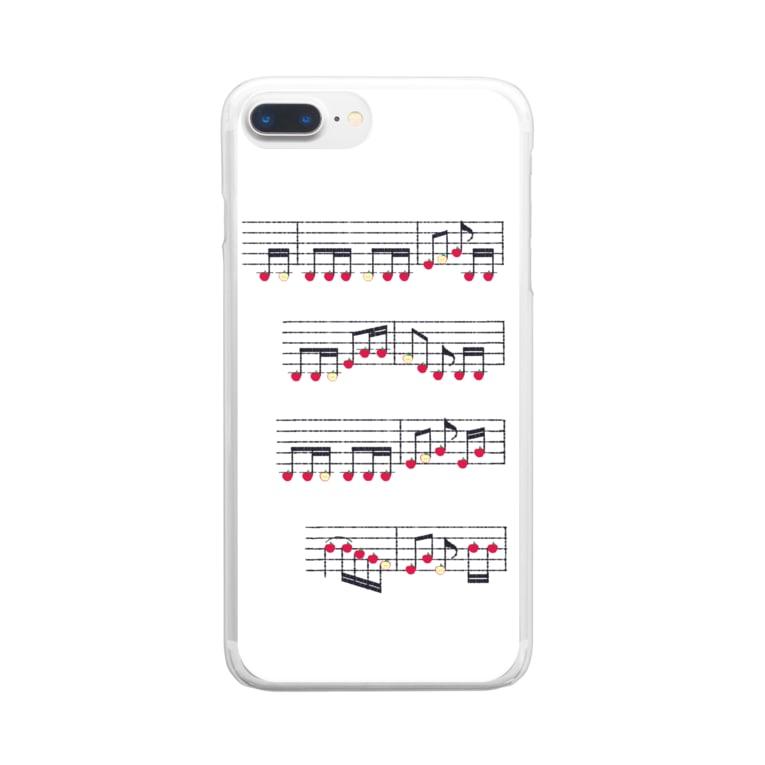 TinyMiry(タイニーミリー)のりんごの楽譜 Clear smartphone cases