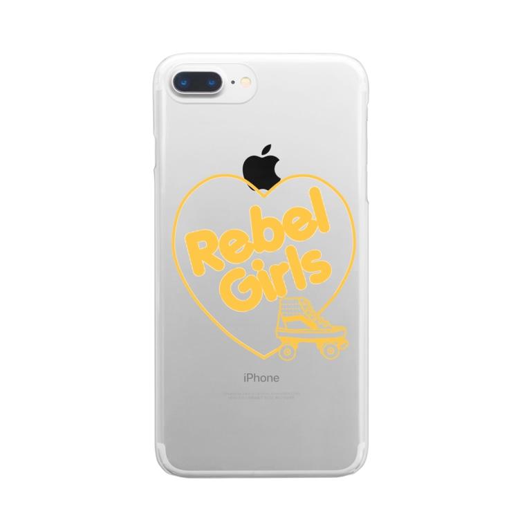 ITSUMItalkstoreのREBEL ROLLER GIRLS黄色 Clear smartphone cases