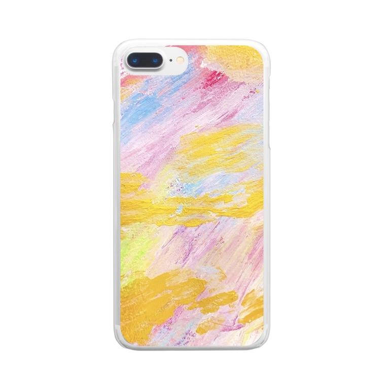 chiakiuedaのメリーゴーランドがある丘 Clear smartphone cases
