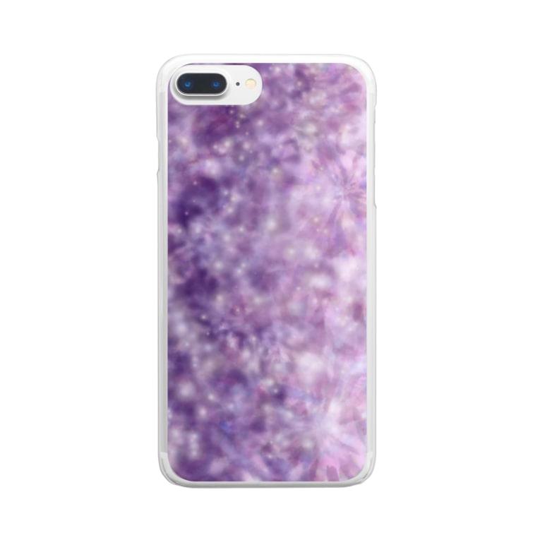 TinyMiry(タイニーミリー)の宇宙はかわいい Clear smartphone cases