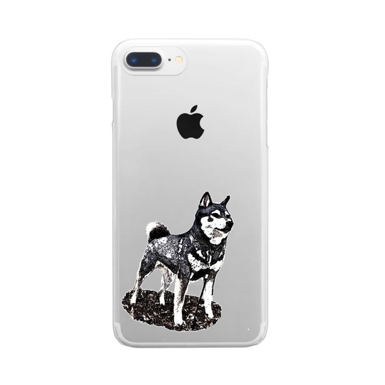 マロマロの凛と (背景なし) Clear smartphone cases