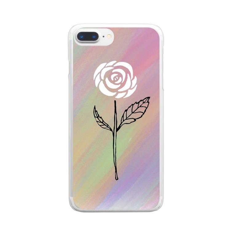 Rock Style Hero Originの世紀末に咲く一輪の薔薇 Clear smartphone cases
