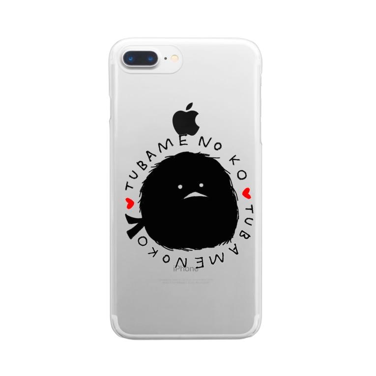 momomo_omiの燕の子 Clear smartphone cases