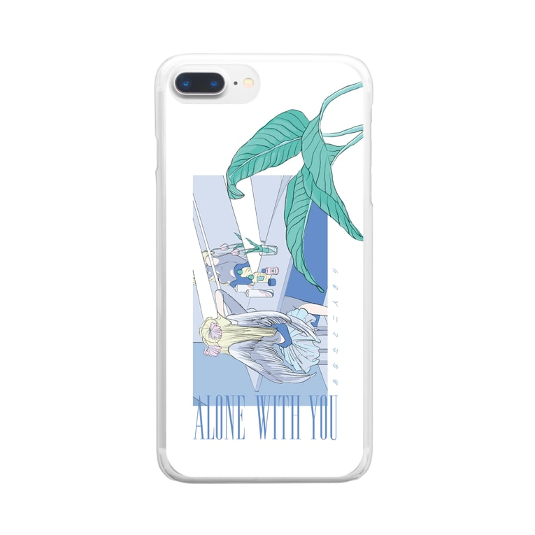 mayuのALONE WITH YOU Clear smartphone cases